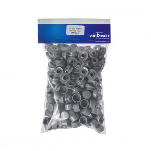 Dop met ring 76/18 grijs 100 stuks